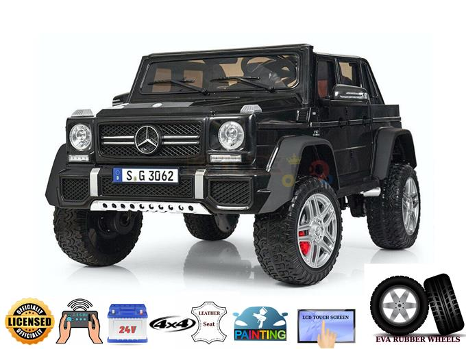 XXL Complete Luxury Matte Edition 24v Mercedes Benz Maybach G650, 4×4 Kids Ride On Truck