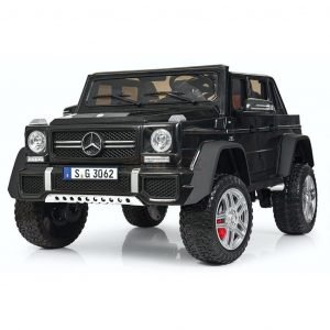 kidsvip mercedes maybach ride on truck car 2seater 2 seater black mp4 24V KIDS TODDLERS MATTE 1