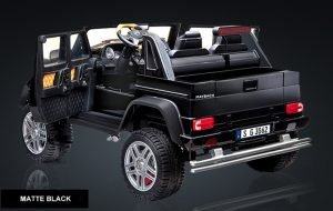 kidsvip mercedes maybach ride on truck car 2seater 2 seater black mp4 24V KIDS TODDLERS MATTE 15