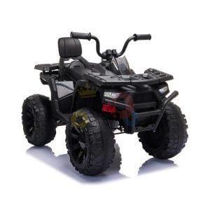 24v titan kids atv rubber wheels leather seat black 1