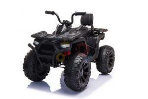 24v titan kids atv rubber wheels leather seat black 10
