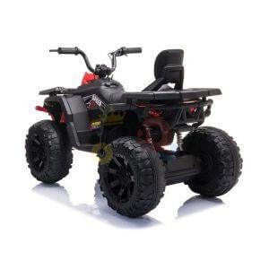 24v titan kids atv rubber wheels leather seat black 3 1