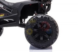 24v titan kids atv rubber wheels leather seat black 5
