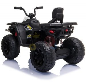 24v titan kids atv rubber wheels leather seat black 7