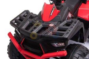 24v titan kids atv rubber wheels leather seat red 1