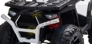 24v titan kids atv rubber wheels leather seat white 10