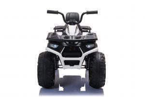 24v titan kids atv rubber wheels leather seat white 11