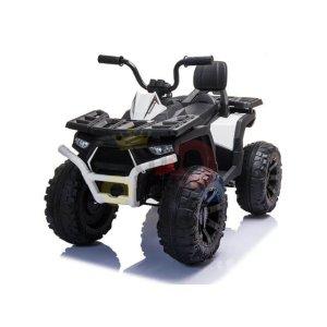 24v titan kids atv rubber wheels leather seat white 12