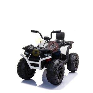 24v titan kids atv rubber wheels leather seat white 15