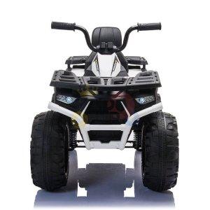 24v titan kids atv rubber wheels leather seat white 6