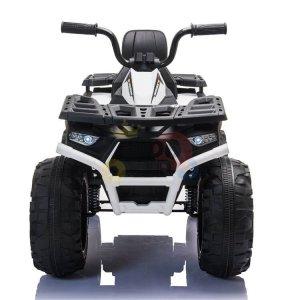 24v titan kids atv rubber wheels leather seat white 9