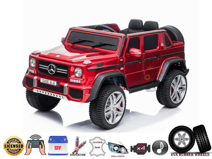 RED 4WD Mercedes Maybach G650s 12V Ride On Car for Kids With Remote Control