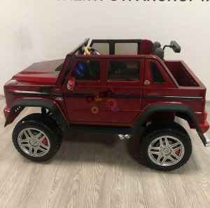 kidsvip mercedes maybach ride on truck car 2seater 2 seater RED mp4 24V KIDS TODDLERS RED 22