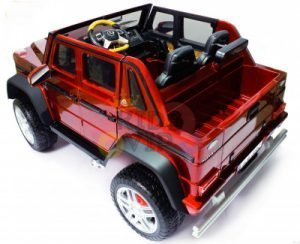 kidsvip mercedes maybach ride on truck car 2seater 2 seater RED mp4 24V KIDS TODDLERS RED 3