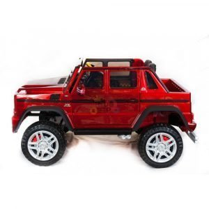 kidsvip mercedes maybach ride on truck car 2seater 2 seater RED mp4 24V KIDS TODDLERS RED 31
