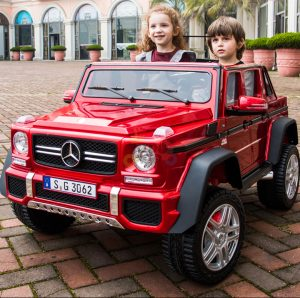 kidsvip mercedes maybach ride on truck car 2seater 2 seater RED mp4 24V KIDS TODDLERS RED 49