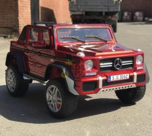 kidsvip mercedes maybach ride on truck car 2seater 2 seater RED mp4 24V KIDS TODDLERS RED 57