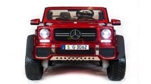 kidsvip mercedes maybach ride on truck car 2seater 2 seater RED mp4 24V KIDS TODDLERS RED 6