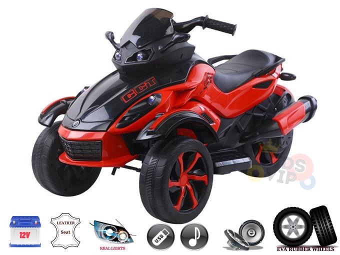 12V Junior Sport Edition 3 Wheels Kids and Toddlers Ride on Bike/ATV