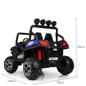 kidsvip 2 seater ride on utv buggy 2x12v rubber wheels toddlers kids blue 10