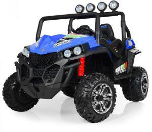 kidsvip 2 seater ride on utv buggy 2x12v rubber wheels toddlers kids blue 11