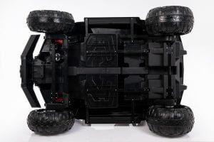 kidsvip 2 seater ride on utv buggy 2x12v rubber wheels toddlers kids blue 15