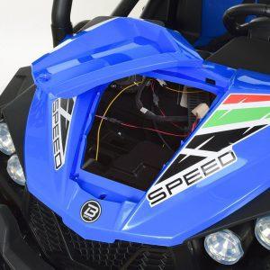 kidsvip 2 seater ride on utv buggy 2x12v rubber wheels toddlers kids blue 7