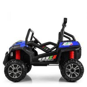 kidsvip 2 seater ride on utv buggy 2x12v rubber wheels toddlers kids blue 9