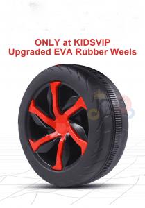 kidsvip 2 wheel atv bike rubberr wheels leather kids ride on red 1