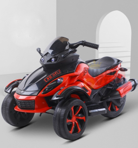 kidsvip 2 wheel atv bike rubberr wheels leather kids ride on red 13
