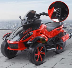 kidsvip 2 wheel atv bike rubberr wheels leather kids ride on red 14