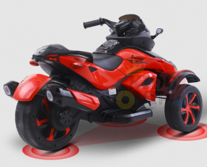 kidsvip 2 wheel atv bike rubberr wheels leather kids ride on red 15