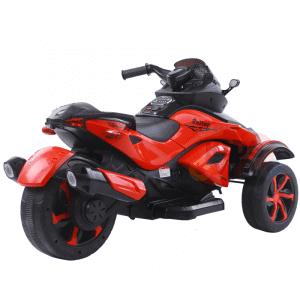 kidsvip 2 wheel atv bike rubberr wheels leather kids ride on red 2
