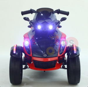 kidsvip 2 wheel atv bike rubberr wheels leather kids ride on red 3