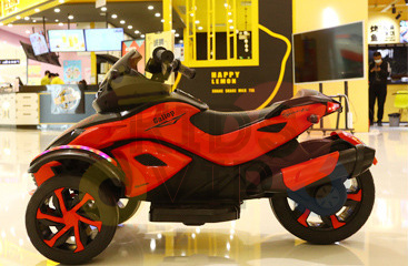 kidsvip 2 wheel atv bike rubberr wheels leather kids ride on red 5
