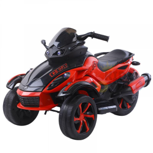 kidsvip 2 wheel atv bike rubberr wheels leather kids ride on red 9
