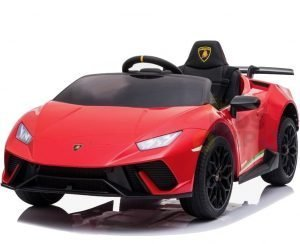 kidsvip lamborghini huracan 12v kids toddlers ride on car rc leather seat red 1