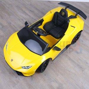 kidsvip lamborghini huracan 12v kids toddlers ride on car rc leather seat yellow 15