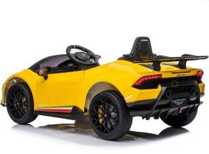 kidsvip lamborghini huracan 12v kids toddlers ride on car rc leather seat yellow 2