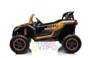 kidsvip 24v 4wd 4x4 ride on buggy utv gig toy remote rc gold 1