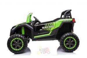 kidsvip 24v 4wd 4x4 ride on buggy utv gig toy remote rc green 1