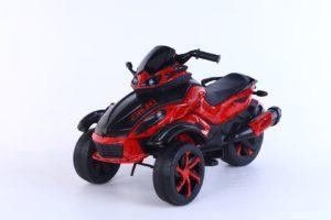3 wheel atv kids ride on spyder red 1