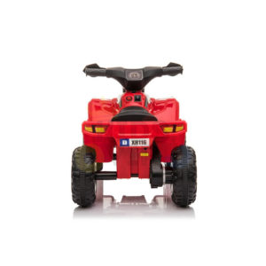 KIDSVIP MY FIRST ATV 6V RUBBER WHEELS LEATHER SEAT RED 14