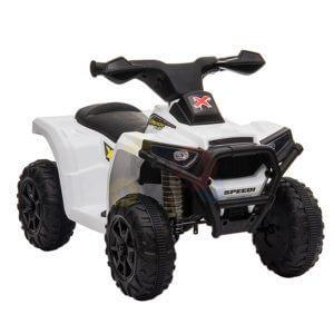 KIDSVIP MY FIRST ATV 6V RUBBER WHEELS LEATHER SEAT white 12