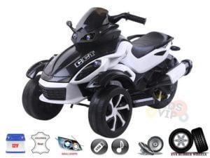 White Junior Sport Edition 12V Ride On ATV