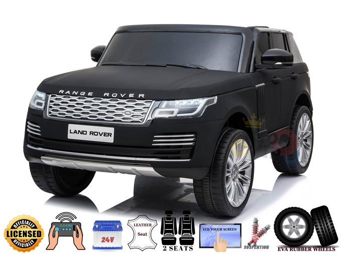 Range Rover 2 Seats 24V Kids Ride On Car With MP4 Player [BLACK MATTE]