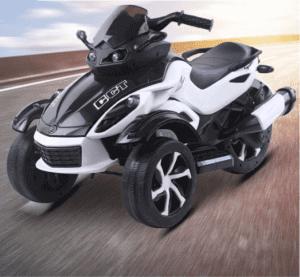 kidsvip 2 wheel atv bike rubberr wheels leather kids ride on white 1