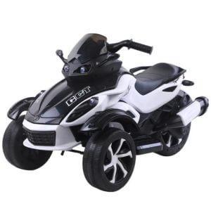 kidsvip 2 wheel atv bike rubberr wheels leather kids ride on white 3