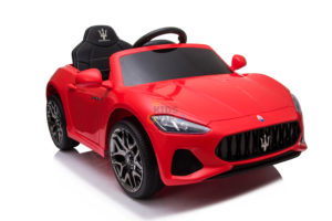 kidsvip maserati kids toddlers ride on car rc rubber wheels leathe seat red 1