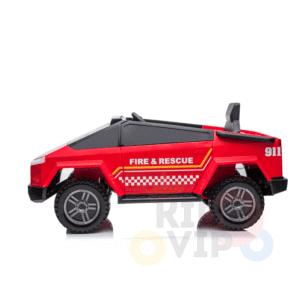 kidsvip firetrucke ride on car truck 12v 4x4 4wd remote kids toddlers 1